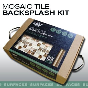 Do it yourself backsplash kit no cement no messy powders to mix diy network backsplash kit doesnt get easier than that solutioingenieria Image collections
