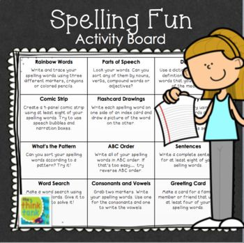 This spelling activity FREEBIE is a fun way for students ...