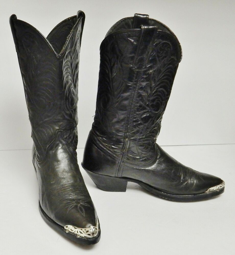 f4582d44770e2 Acme Women's Boots Western Cowboy Metal Tips Black Size 7.5 M ...