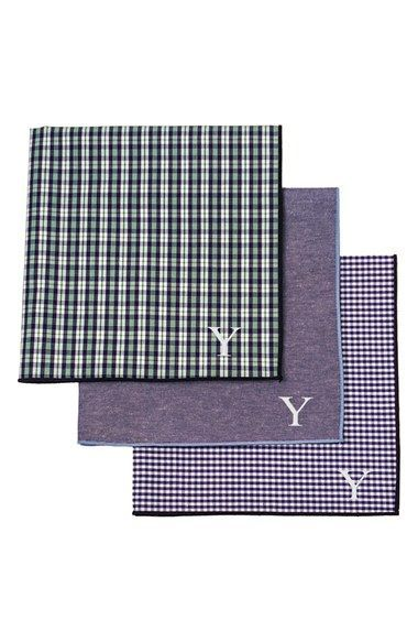 Cathy's Concepts Personalized Handkerchiefs (Set of 3)