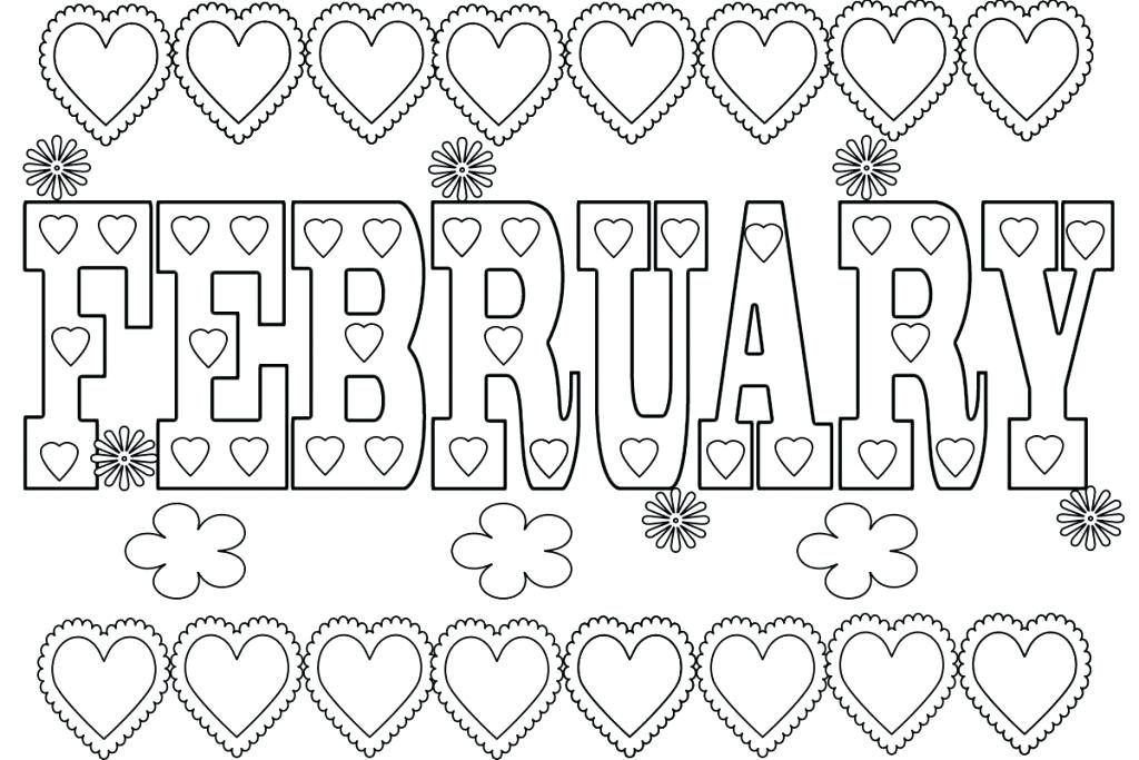 February Coloring Pages Seasons Coloring Pages