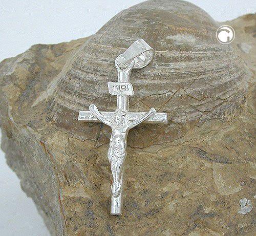 Anhänger, Kreuz mit Jesus, Silber 925