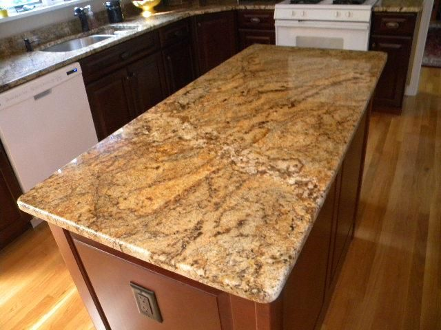 Golden Crystal Granite Countertop Pictures | Crystal Gold Granite  Countertops Installed In Westborough, MA |