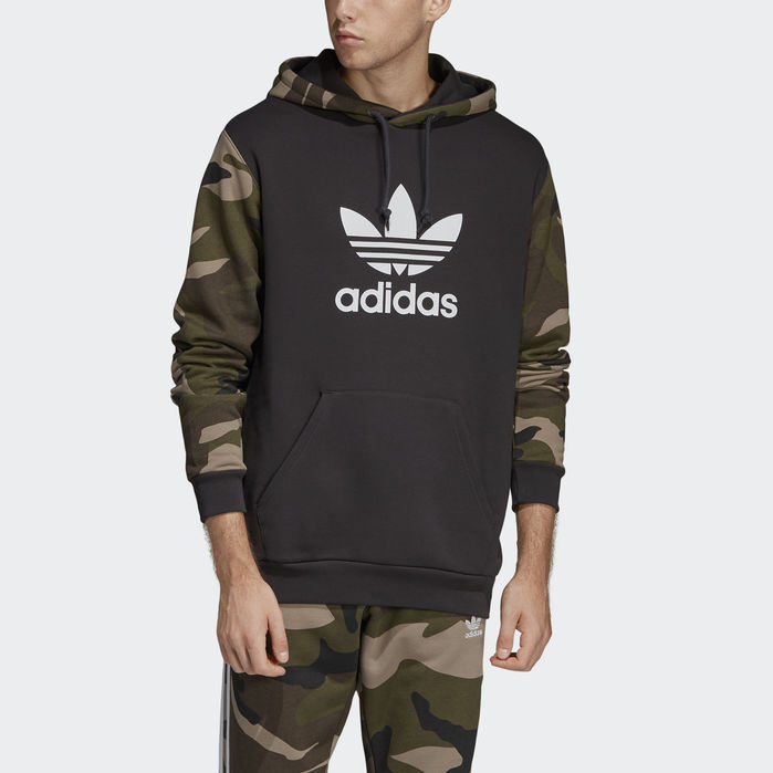 Camouflage Hoodie Black 2XL Mens in 2020 | Hoodies, Adidas
