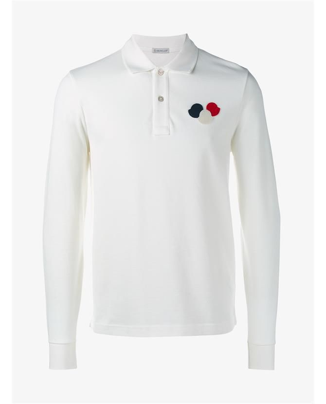 moncler black long sleeve polo