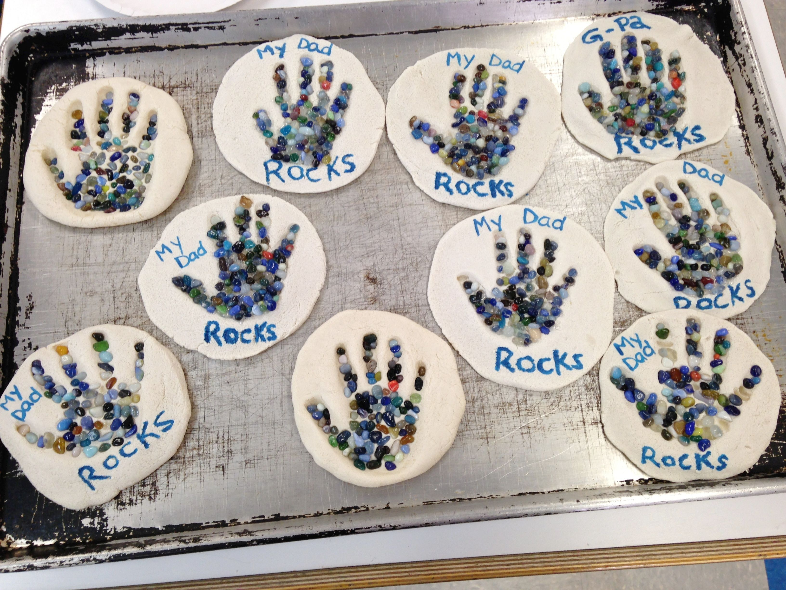Father S Day Craft My Dad Rocks Salt Dough Aquarium Pebbles Paint