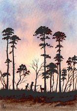 Aceo Original Watercolour Painting deer