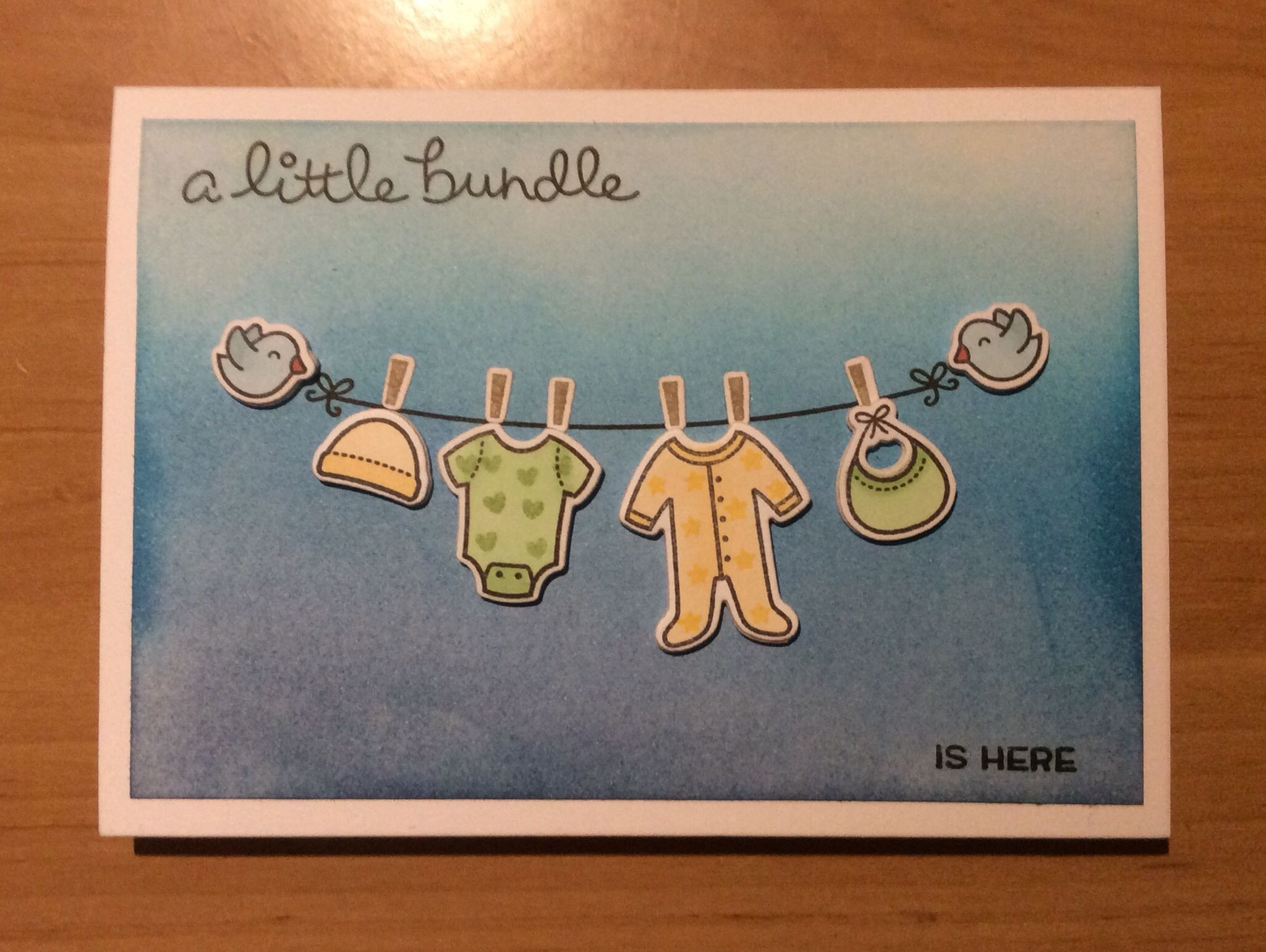 Lawn Fawn Little Bundle new baby card