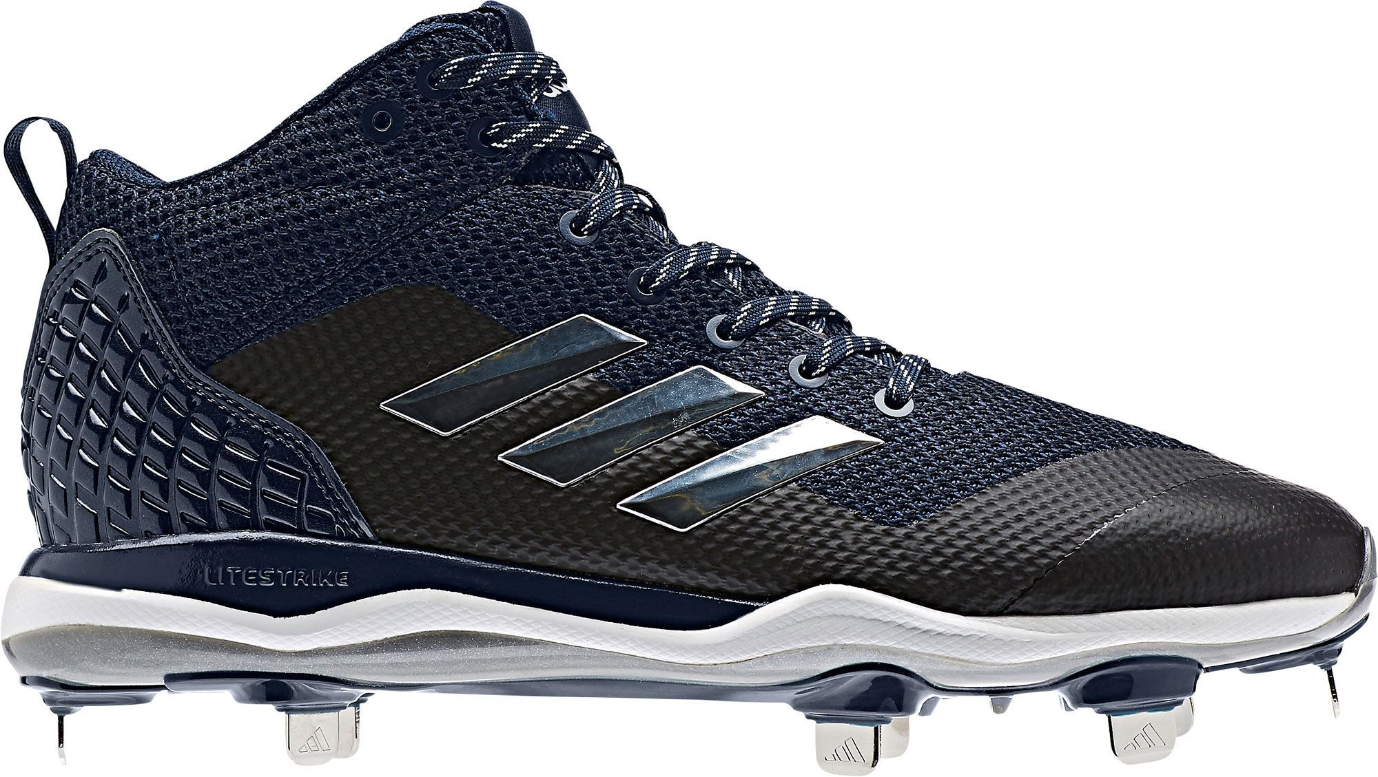 c02c402b6d3 adidas Men s Poweralley 5 Mid Metal Baseball Cleats