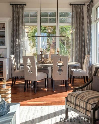 Dining Room Curtain Panels: Windover Model At Barefoot Beach Contemporary Dining Room