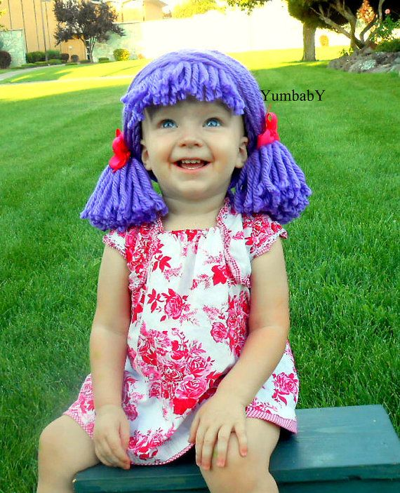 Purple Clown Baby Wig Lalaloopsy Inspired Pigtail Hat by YumbabY ...