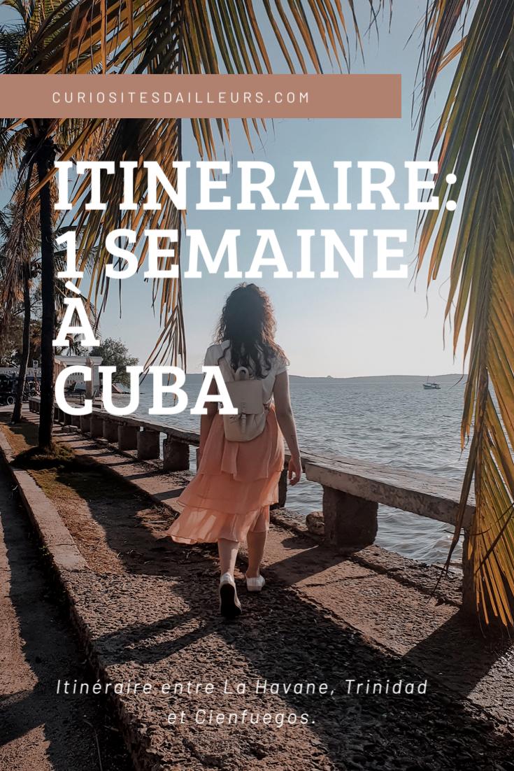 Itinéraire de La Havane, à cienfuegos, en passant par Trinidad... #cuba #traveldestinations