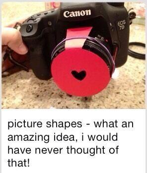 DIY photo shapes