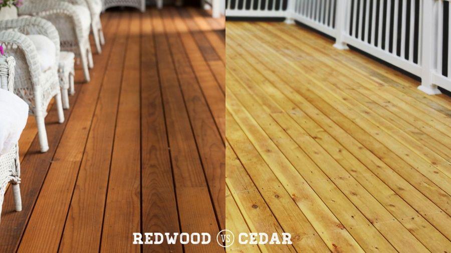 Redwood Vs Cedar Cedar Deck Modern Floor Plans Cedar