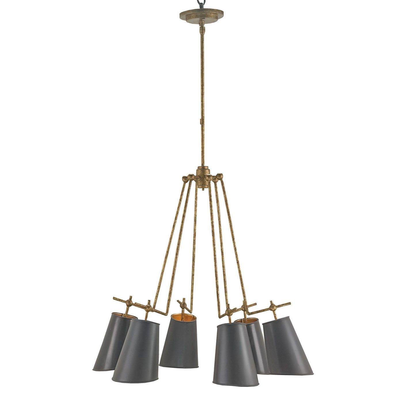 Shop currey company currey company 9503 jean louis 6 light currey company 9503 jean louis chandelier decor sale deals finishold brass shademarbella black light cand f incand jean louis chandelier wrought aloadofball Choice Image