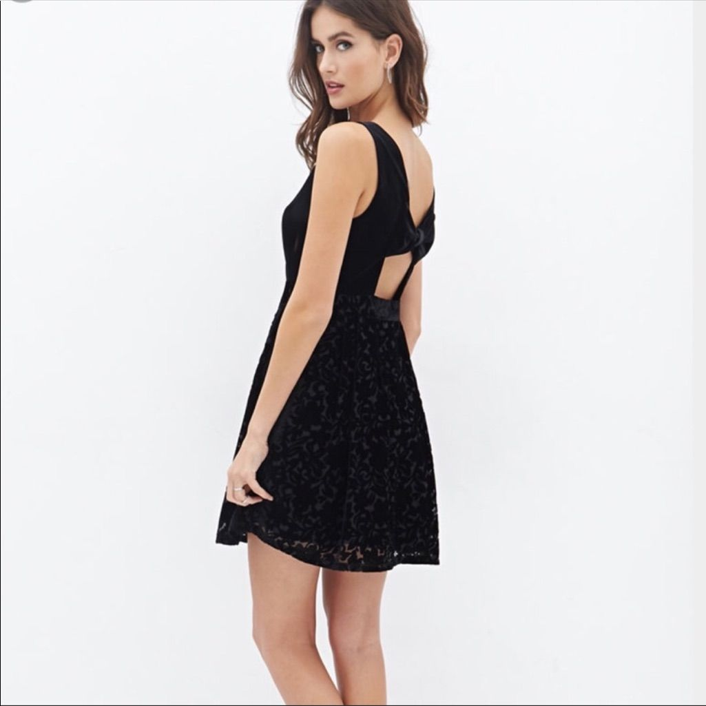 Forever black velvet dress m products pinterest products