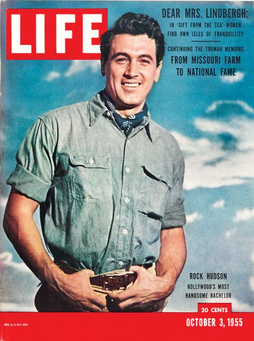 Rock Hudson on a Life cover, 1955