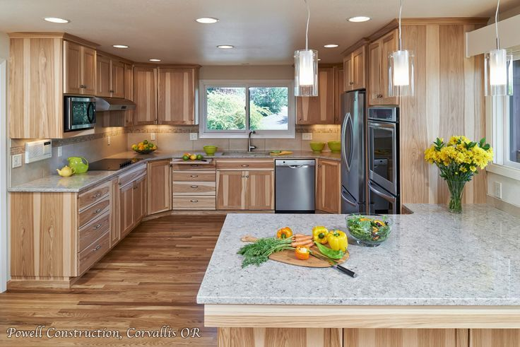 Countertops With Hickory Cabinets Cabinets Hickory