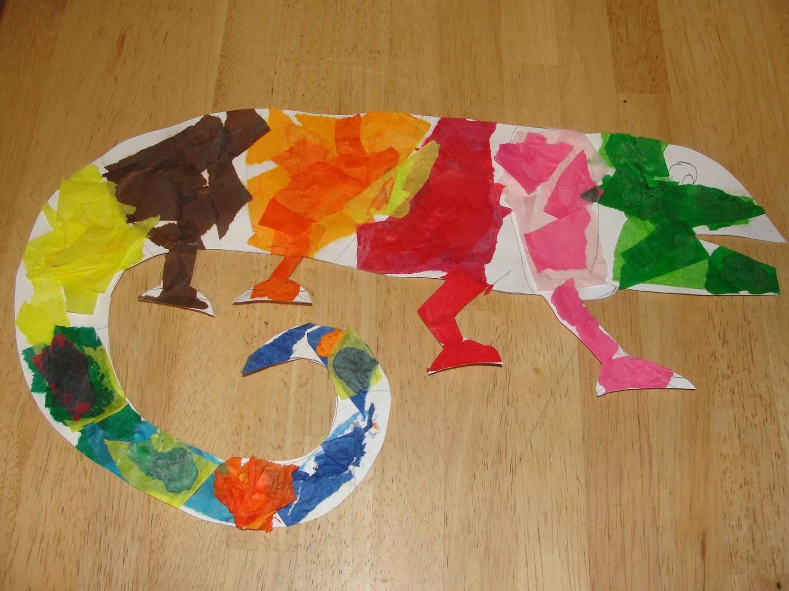 Movin 39 on up the mixed up chameleon teaching ideas for Reptile crafts for kids