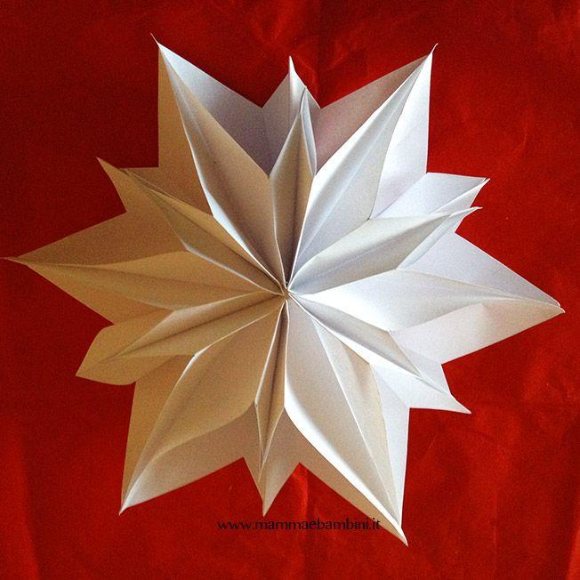 Origami Stella Di Natale.Tutorial Stella Di Carta 3d Per Natale Natale Alberi Di Natale Di Carta Stelle Di Carta