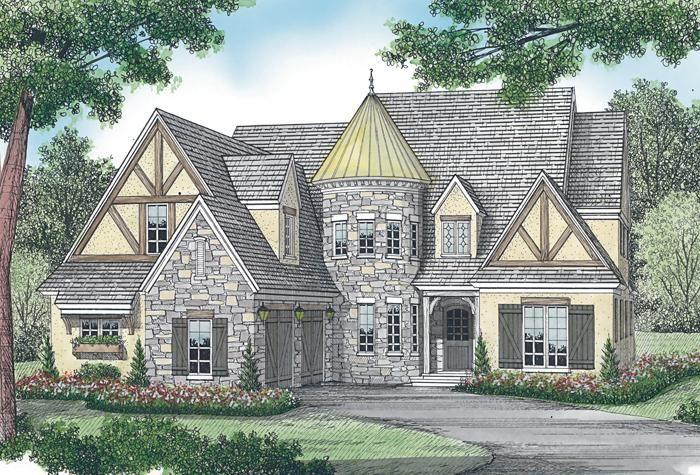 House Plan 3323 00454 Tudor Plan 4 455 Square Feet 4 Bedrooms