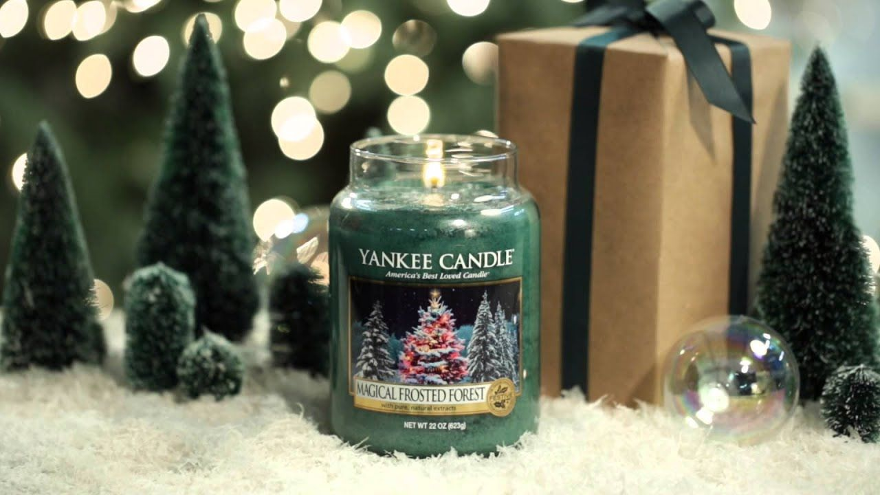 Magical Frosted Forest Yankee Candle In 2020 Yankee Candle Candles Candle Magick