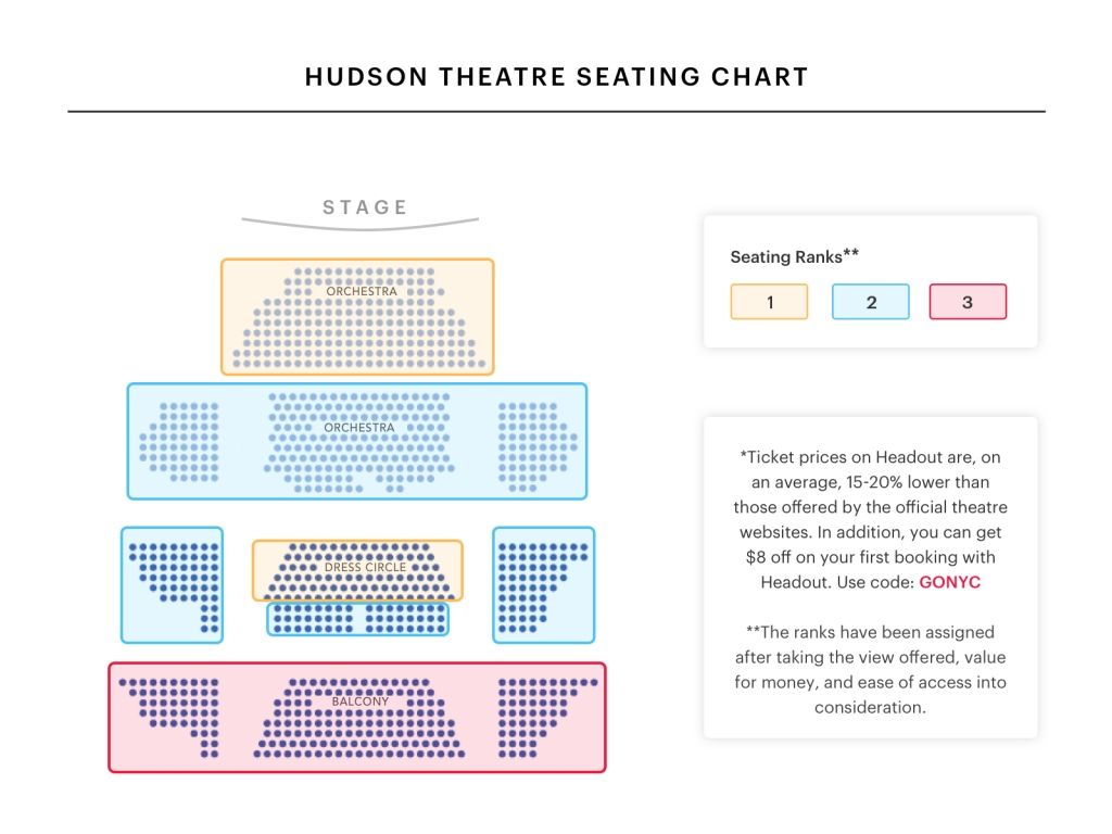 Hudson Theatre Seating Chart Thelifeisdream In Gerald