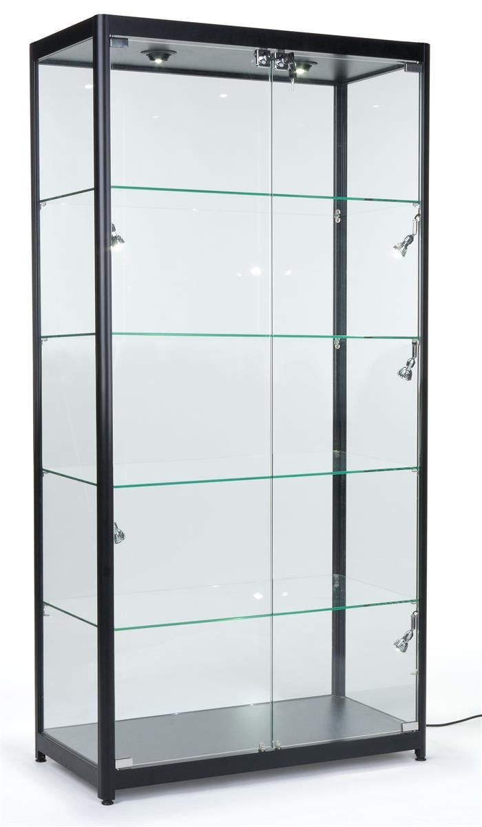 "40"" Display Case W/ Halogen Top & Side Lights, 4 Fixed"