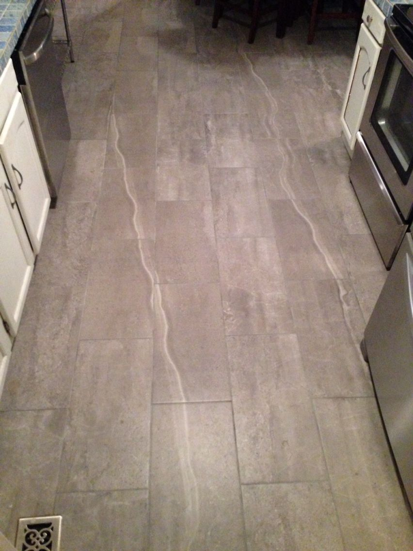 Skyros Gray Indoor Outdoor Porcelain Tile In A Kitchen