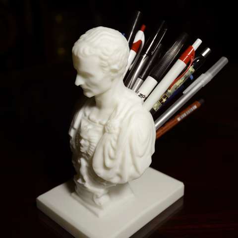 Julius Caesar Pencil Holder Amazing Free Julius Caesar Improved Penpencil Holder Stl File Derailed Inspiration Design