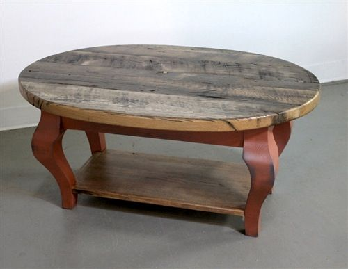 Old Oak Oval Coffee Table With Shelf Oval Coffee Tables