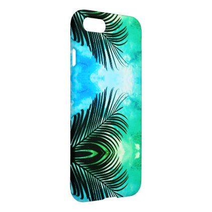 Awesome Super Green Palm Tree Leaf Iphone  Case  Summer Gifts