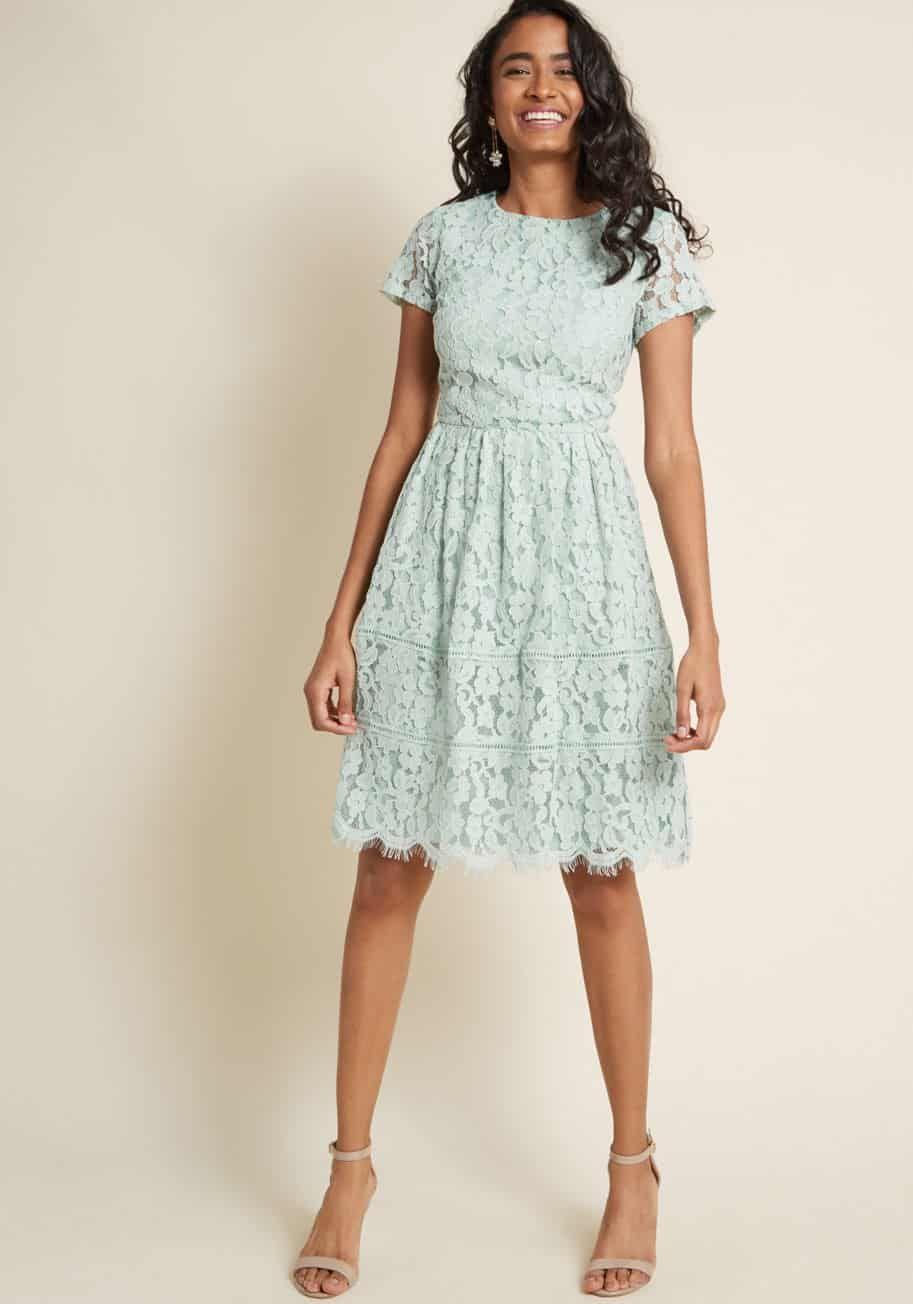 Summer Wedding Guest Dresses Dress For The Wedding Wedding Guest Dress Summer Lace Dress With Sleeves Short Lace Dress
