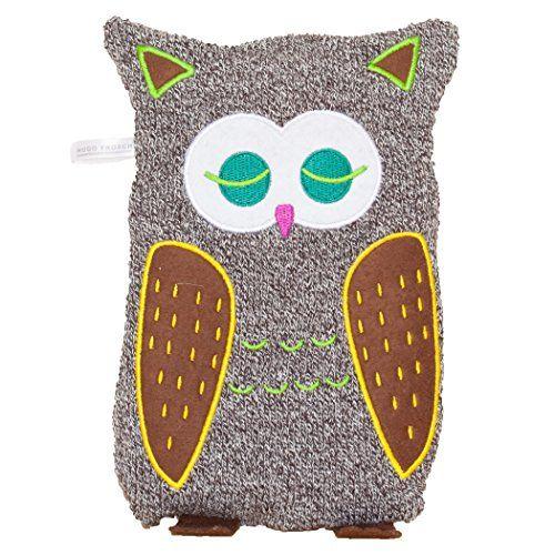 Hugo Frosch Oko Warmflasche Junior Comfort 0 8 Ltr Eule Strickbezug Braun Weiss Owl Coin Purse Purses