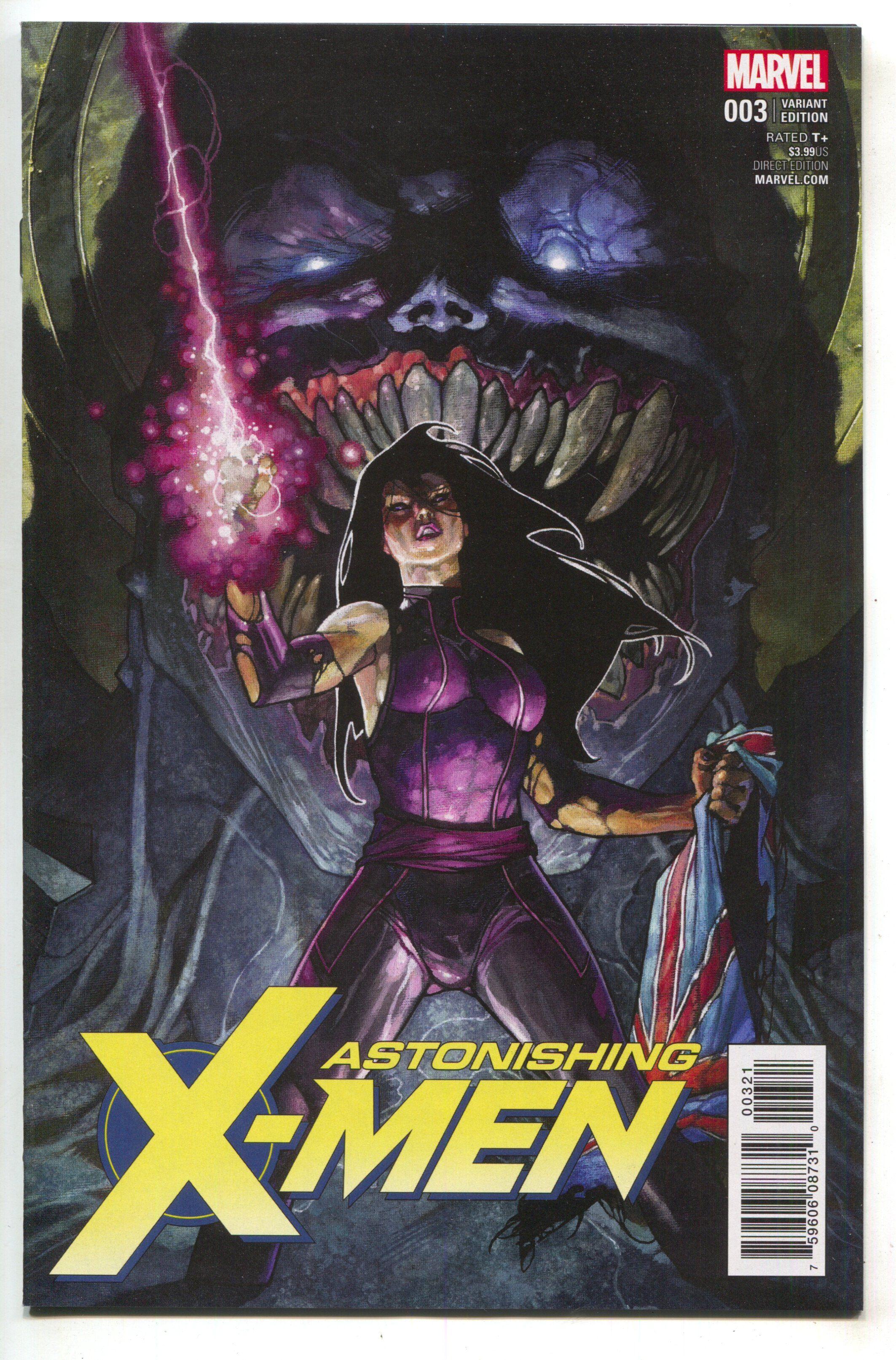 Astonishing X-Men 3 Marvel 2017 1:50 Simone Bianchi Variant Psylocke Shadow King