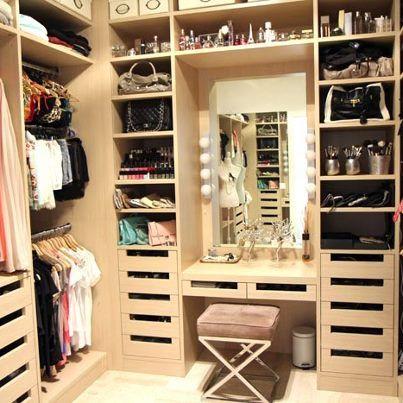 I Wanna Make My New Walk In Closet Vanity Look Like This