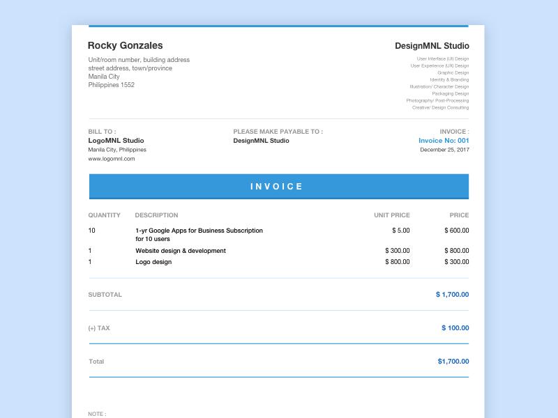 Invoice Editable Template Invoice Template Templates Google Apps