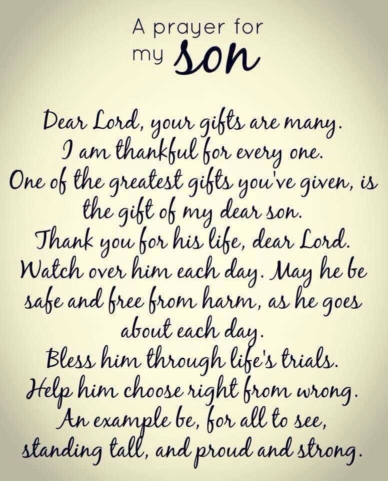 For my three sons! | Prayer for my son, Son quotes ...