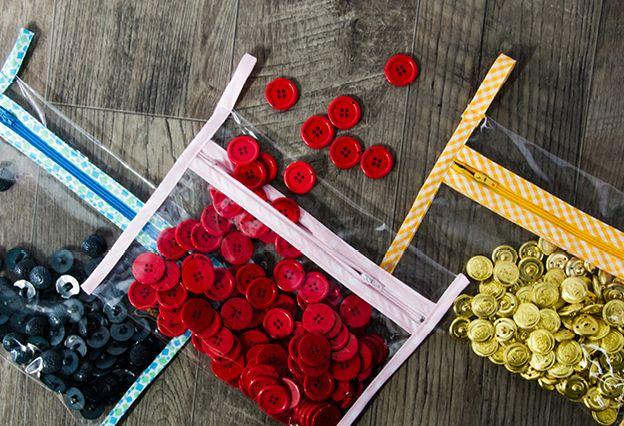 Club Tissus - Pochette de rangement salle de couture | couture tutos ...