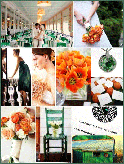 Wedding Themes - Emerald and Koi - Creative Printing of Bay County - Panama City, FL