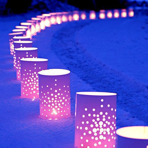 Vinyl luminaries reusable awesome for curb appeal for Reusable luminaries