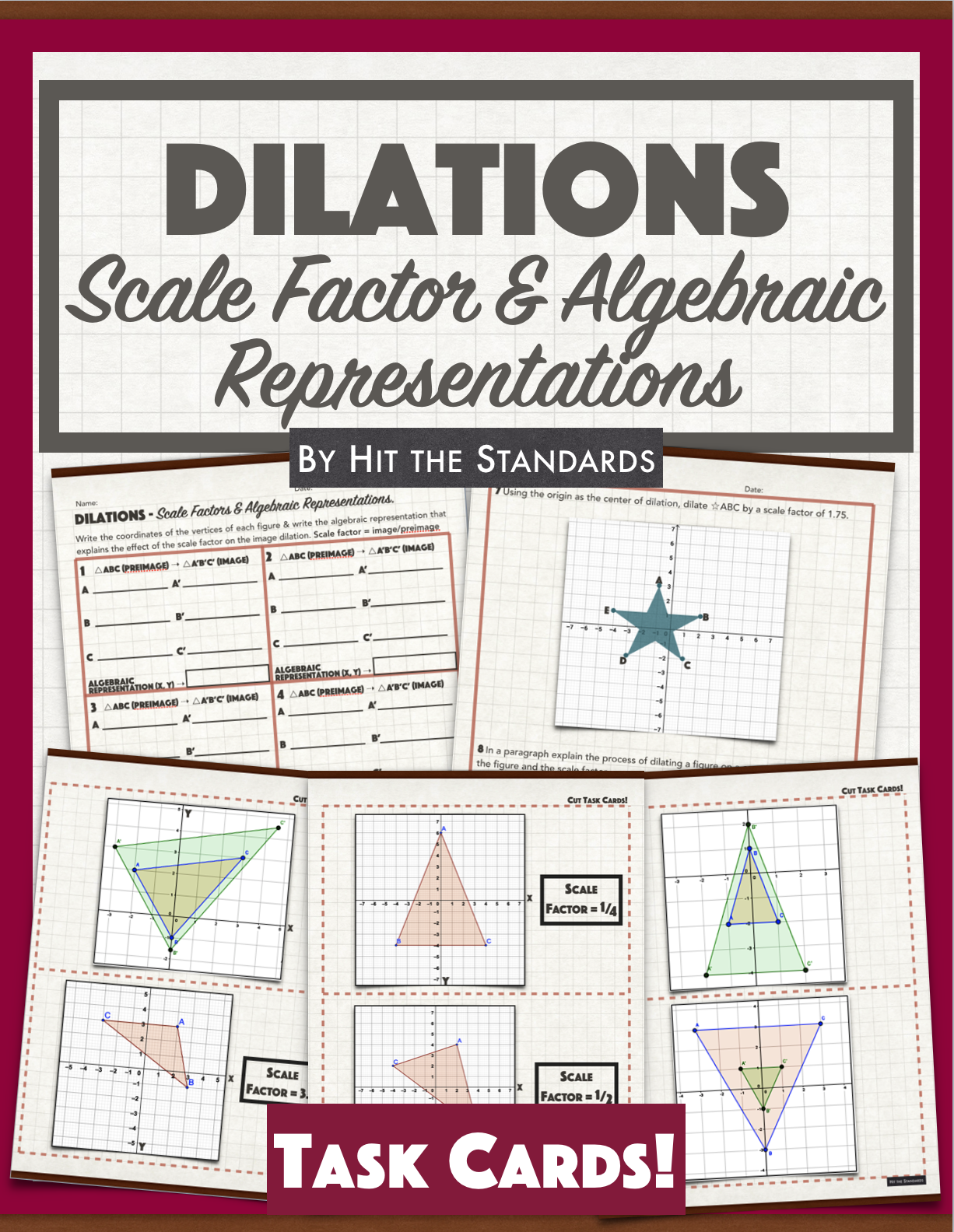 Dilations In The Coordinate Plane Worksheet