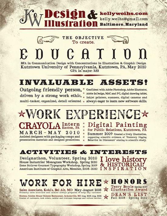 Creative Resume Design  Design  Designers Resumes