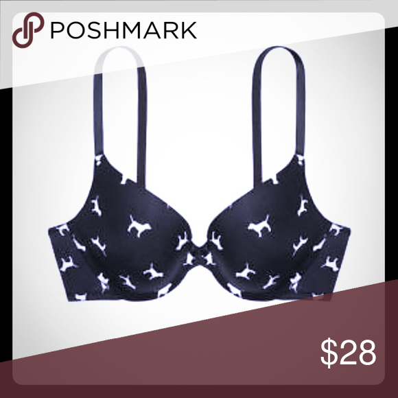 8941df2e5d VS PINK Bra - Wear Everywhere Push-Up New in VS Online packaging VS PINK  Wear Everywhere Push-up Bra Dog print