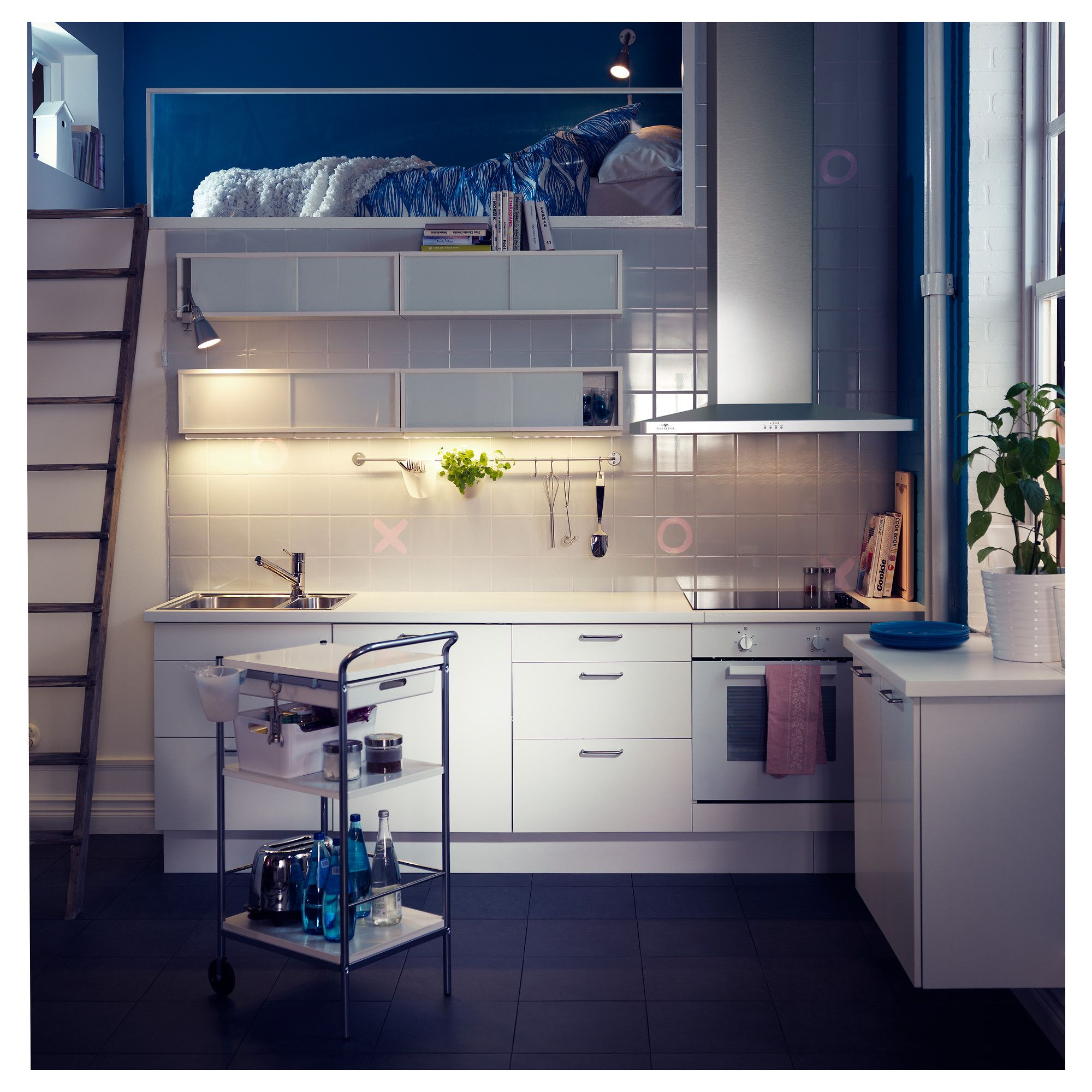 IKEA - ÖSTHAMRA, Armario de pared cocina con puertas, El armario de ...