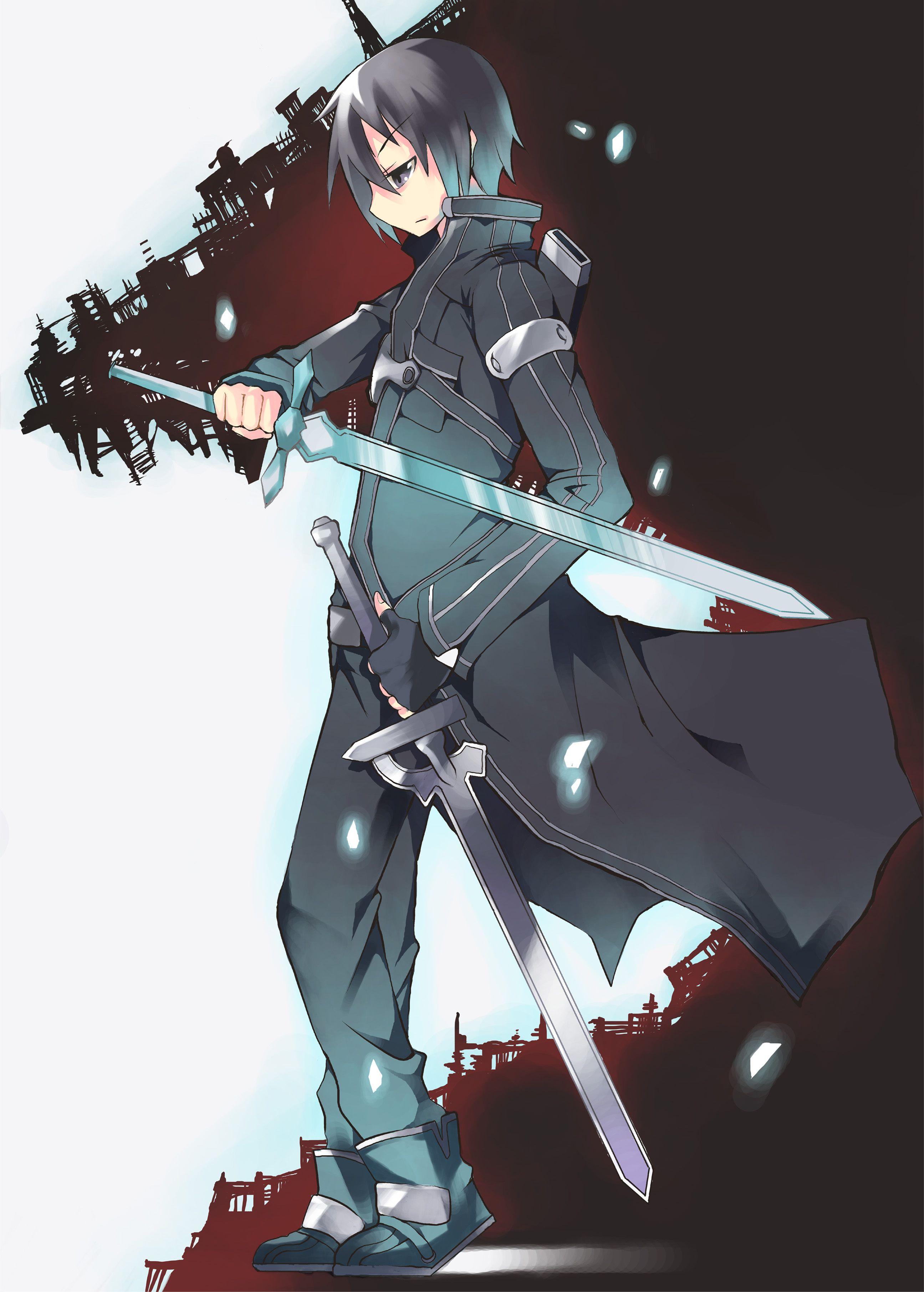 The Black Swordsman. Sword art online, Sword art, Online art
