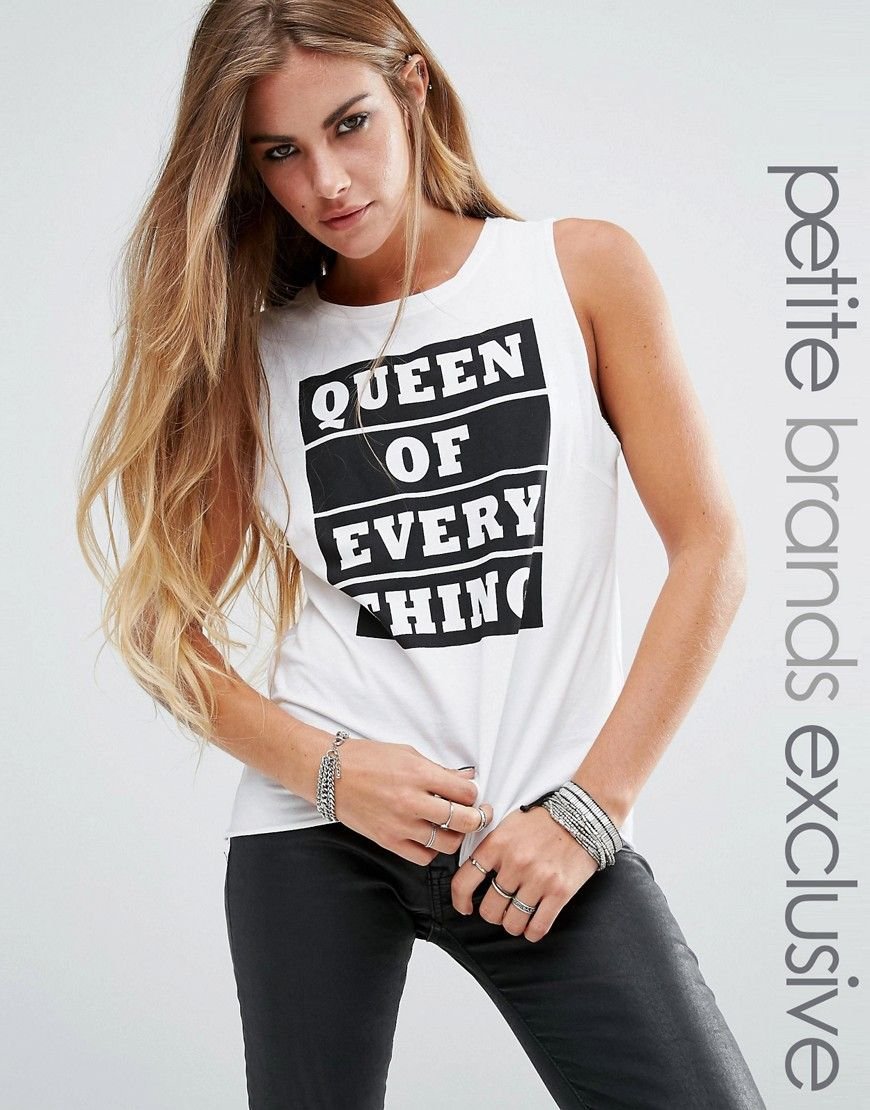0113e4c9d18c42 Image 1 of Noisy May Petite  Queen Of Everything  Motif Tee