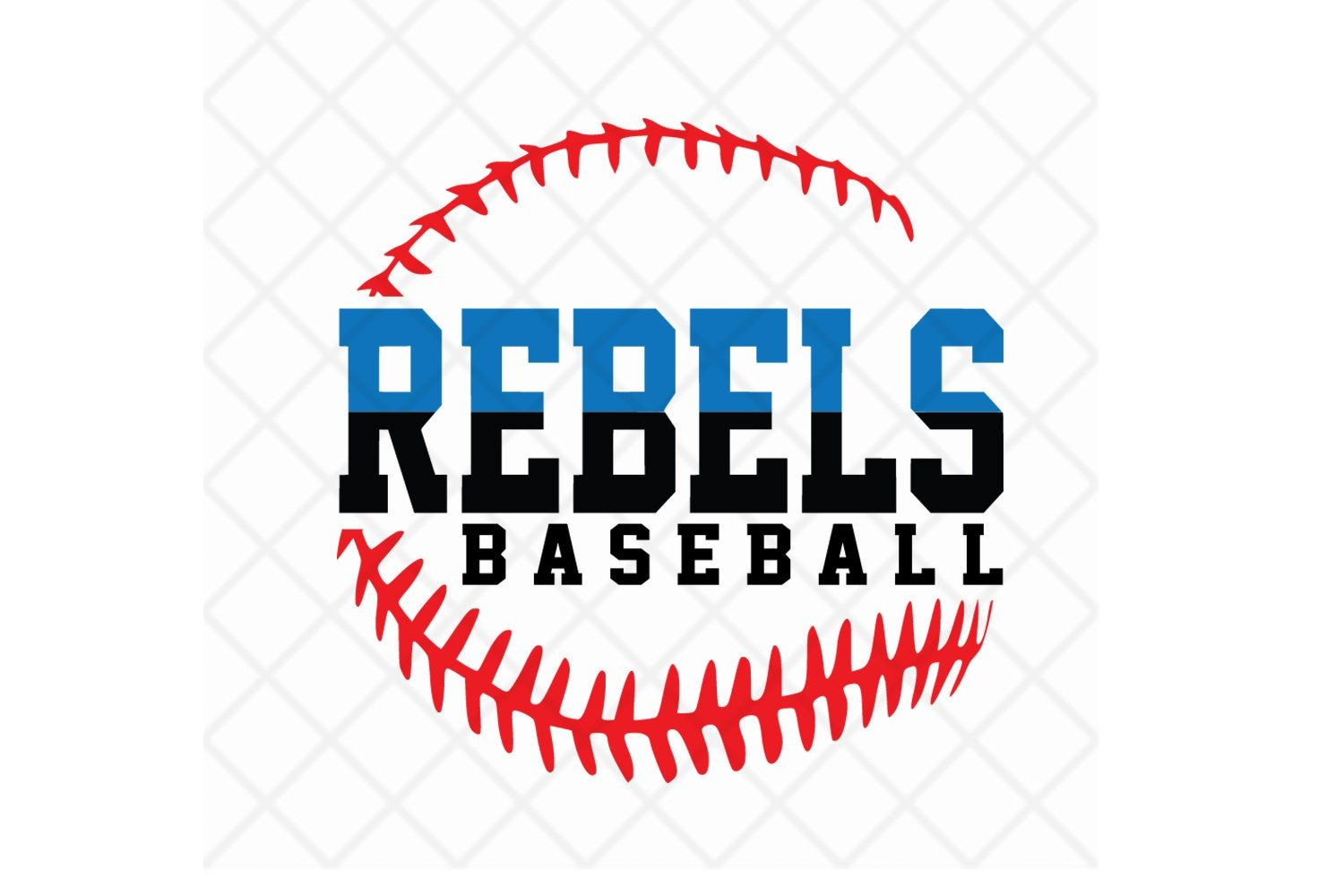 Rebels Baseball Svg Dxf Eps Baseball Laces Download File Etsy Baseball Svg Softball Svg Baseball