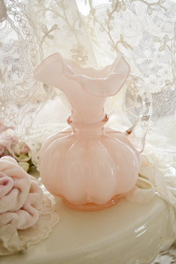RESERVED FOR GISELA Gorgeous Pink Fenton Small Glass Pitcher on Etsy, $19.75