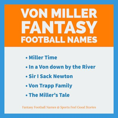 329c8c5080d Von Miller Fantasy Football Names to impress your league. NFL